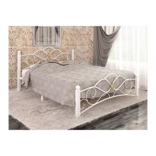 Кровать Garda 3 белый с золотой патиной